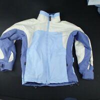 Columbia Womens S Ski Snowboard Jacket Winter Snow Grey Blue Convert Coat