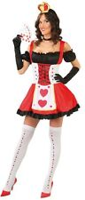 Ladies Sexy Queen of Hearts Alice in Wonderland Fancy Dress Costume Outfit Large