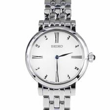 Seiko Women's Stainless Steel Dress Watch Blue Hands SFQ817P1 New in Box w/ Tags