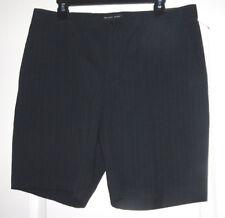 Michael Kors Men's Navy Blue Midnight Striped 100% Cotton Shorts NEW $90