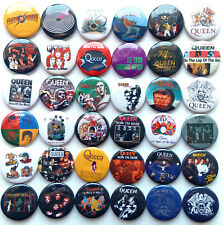QUEEN Button Badges Pins Freddie Mercury A Night at the Opera Innuendo Lot of 36