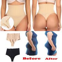 Tummy Control Thong Body Shaper Women High Waist Butt Lifter Underwear Shapewear