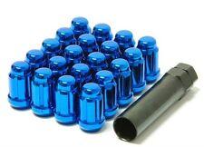 """20 Pcs Spline Blue Acorn Lug Nuts Thread 1/2"""" w/ key Fit Ford Mustang 1994-2014"""
