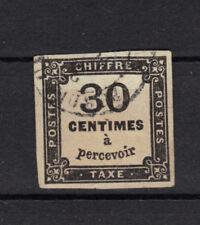 TAXE n°6  30c NOIR 1871-1878  4 marges Oblitéré signé  +charniere + sans clair