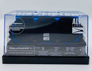 Altec Lansing Mini LifeJacket Bluetooth Speaker - Black And Blue - New, Open Box