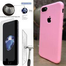 Apple Iphone 8 caso Micro Slim película protectora de pantalla de 9 H libre de parachoques Rosa