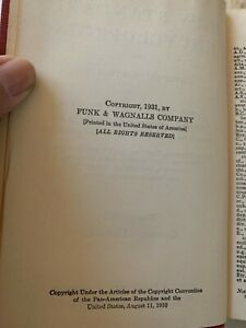 Vintage Funk and Wagnalls 1931 New Standard Encyclopedia Full Set of 25