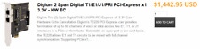 ISDN VoIP Hardware Digium Wildcard TE220 dual-span T1/E1/J1 HW Echo(PCI-Express)