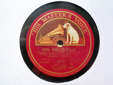 YORK MINSTER SOCIETY OF CHANGE RINGERS - York Minster Bells 78 rpm disc (A++)