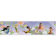 DISNEY FAIRIES WALLPAPER BORDER peel & stick Tinkerbell Iridessa Rosetta Fawn +