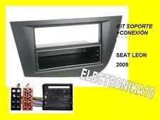 Marc Soporte  radio Seat leon 2005+ Kit conexion seat 1din o 2din negro o gris