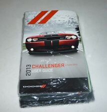 2013 DODGE CHALLENGER USER GUIDE OWNERS MANUAL SET 13 SRT8 SXT R/T +case NEW