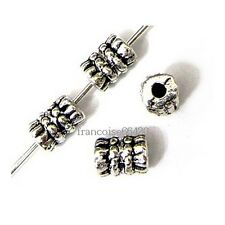 20 Intercalaires spacer Cylindre 6x4.5x4.5mm Perles apprêts création bijoux A293