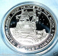Moon Landing Silver Coin Apollo 11 Star Wars Trek Space NASA USA Sci-Fi Science