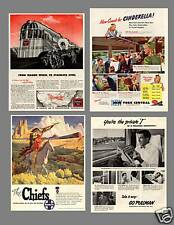 Extensive Collection of 703 VINTAGE RAILROAD Ads