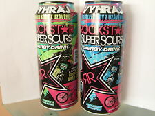 ENERGY DRINK, ROCKSTAR Super Sours Green Apple  + Bubbleberry BMX Editionen