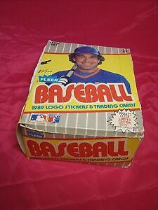 1989 Fleer Baseball Wax Box 36 packs