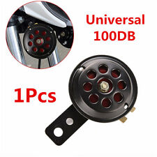 1pcs 12V 100db Metal Black & Red Motorcycle Car Truck Waterproof Electric Horn