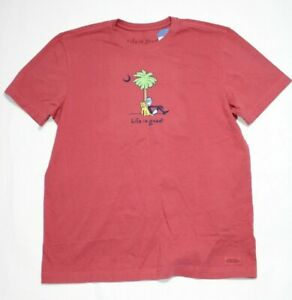 Life is Good Vintage Men's Crushe Jake & Rocket Printed Size M NEW With Tags