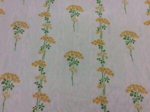 "Vintage Chintz floral ""Parsley Ochre Curtain soft furnishing roman blinds Fabric"