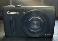 Canon PowerShot S100 12.1MP Digital Camera w/ Charger & Battery