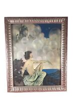 """Maxfield Parrish """"Air Castles"""" Art Print Repro in New Silver Ornate Frame 11"""""""