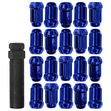 Gorilla 21183BL Mustang Lug Nut Kit Small Diameter Blue 65-14