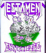 Vintage 1989 Testament Iron-On Transfer Envy Life Metal Super Rare!