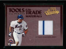 MIKE PIAZZA 2002 PLAYOFF ABSOLUTE TOOLS OF THE TRADE JERSEY #112/300 AY057