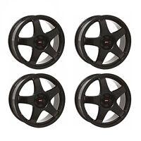 4 x Team Dynamics Black Pro Race 3 Alloy Wheels - 5x110   17x7   ET38