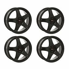 4 x Team Dynamics Black Pro Race 3 Alloy Wheels - 5x110 | 17x7 | ET38
