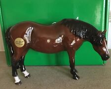 JOHN BESWICK HORSE THOROUGHBRED MARE  BROWN GLOSS MODEL No. JBH42 NEW & BOXED