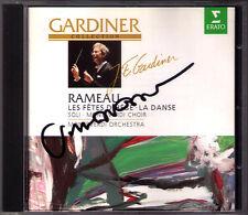 John Eliot GARDINER Signed RAMEAU La Danse Entree des Fetes d'Hebe CD Jill Gomez
