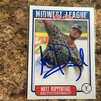 Matt Ruppenthal Signed 2019 Midwest League All Star Set Auto Rc Houston Astros