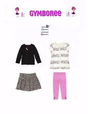 "Gymboree Girls ""Posh & Playful""Blouse/top/skirt/leggings 5 Piece Set Size 7"