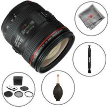 Canon EF 24-70mm f/4L IS USM Lens + 5pc Filter Kit + Lens Pen Blower + More