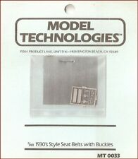 Model Technologies 1930's Style Seat Belts With Buckles for 1/48 Scale Model Kit