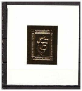 s14600) FUJEIRA 1967 MNH** Kennedy Gold Foil S/S