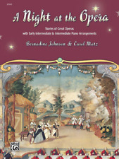 """""""A Night At The Opera"""" Music Book-Intermediate Piano Arrangements-New On Sale!"""