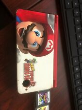Nintendo DSi XL Red with Mario Vinyl Covers Handheld Game System Games & Case