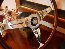 NARDI Mercedes Wood Steering Wheel 380 SL 1980 - 85 Hub Boss Horn Button  New