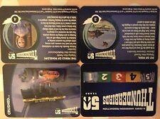 Thunderbirds 50TH Aniversario: tarjetas de prueba de impresoras: Set Completo De Tarjeta Base