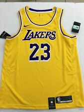 LEBRON JAMES AUTHENTIC LOS ANGELES LAKERS NIKE SWINGMAN  JERSEY SIZE 52 XL