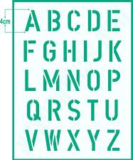 Buchstabenschablone Nr.35   4cm Druck Buchstaben Schablone ABC Alphabet Schrift
