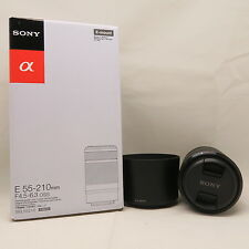 BRAND NEW SONY E 55-210mm F/4.5-6.3 OSS BLACK LENS for a7 a7R NEX E-mount IN UK
