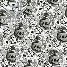 HYDROGRAPHIC FILM HYDRO DIPPING WATER TRANSFER PRINTING BEST LUCKY SKULLS LL-490