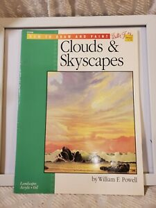 CLOUDS & SKYSCAPES by Wm F Powell A Water Foster How to Paint guide #206