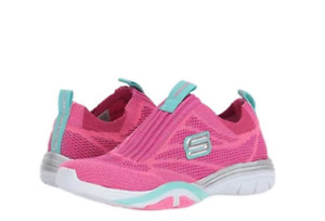 Skechers Stella Sporty Spice Hot Pink/Turquoise Kids Girl's Shoes Size 4  &  5.5