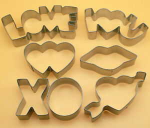 Wedding Party Cookie Cutter Valentine Day Love Stainless Steel Mold Baking Set