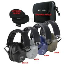 TITUS Side Shield 2-Series 34 NRR Safety Earmuff & Glasses Combos With Pouches